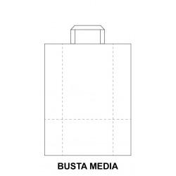 Busta Piatta Bianca Media -...