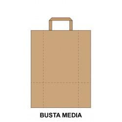 Busta Piatta Avana Media -...